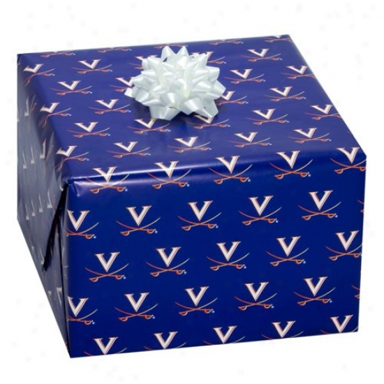 Virginia Cavaliers Navy Blue Logo Gift Wrap Paper