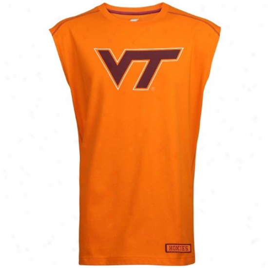 Virginia Polytechnic Institute Tshirts : Virginia Pollytechnic Institute Orangd Inferno Sleeveless Tshirts