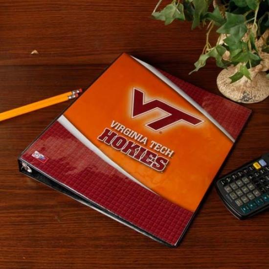 Virginia Tech Hokies 1'' 3-ring Team Logo Binder