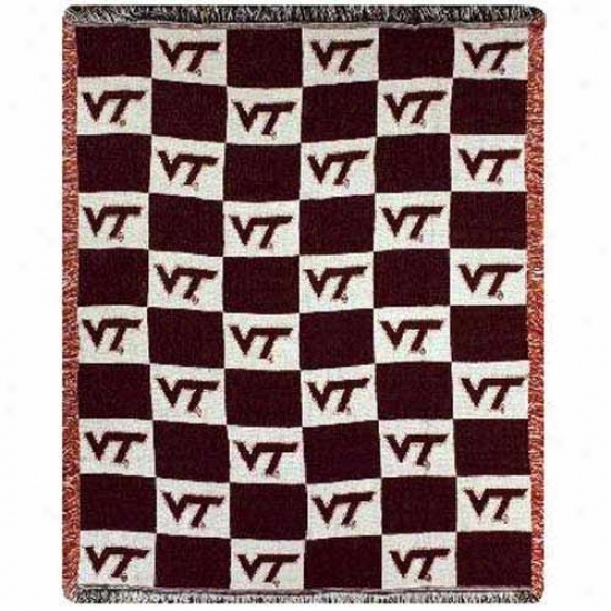 Virginia Tech Hokies 2-layer Woven Blanket Throw