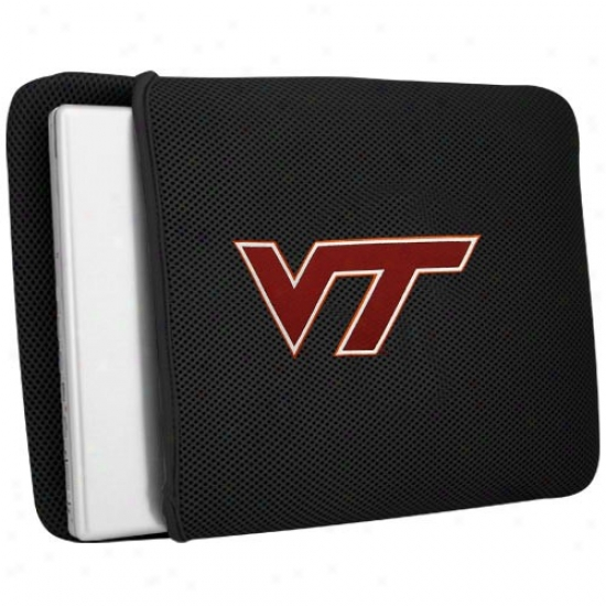 Virginia Tech Hokies Black Ensnare Laptop Protector