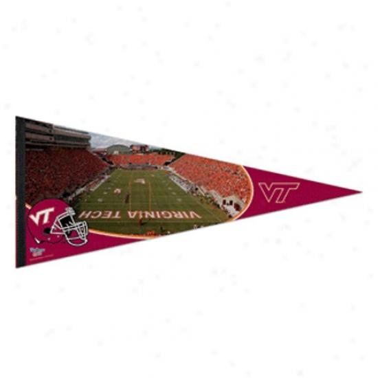 Virginia Tech Hokies Maroon 17'' X 40'' Stadium Felt Pennant