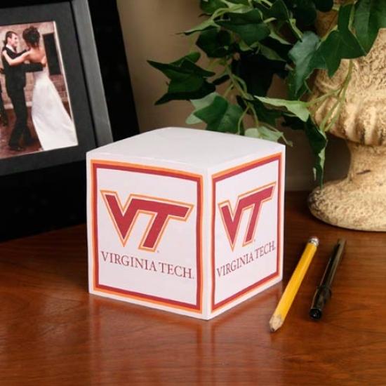 Virginia Tech Hokies Ncaa Cube Notepad