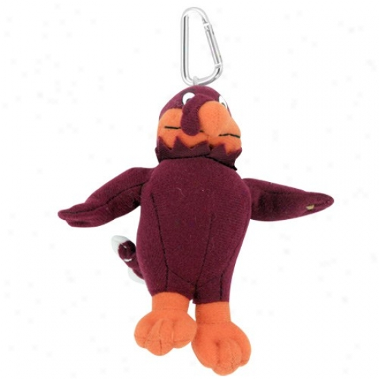 Virginia Tech Hokies Plush Mascot Keychain