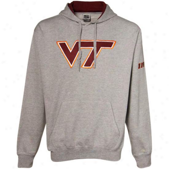 Virginia Tech Sweat Shirts : Virginia Tech Ash Classic Twill Sweat Shirts