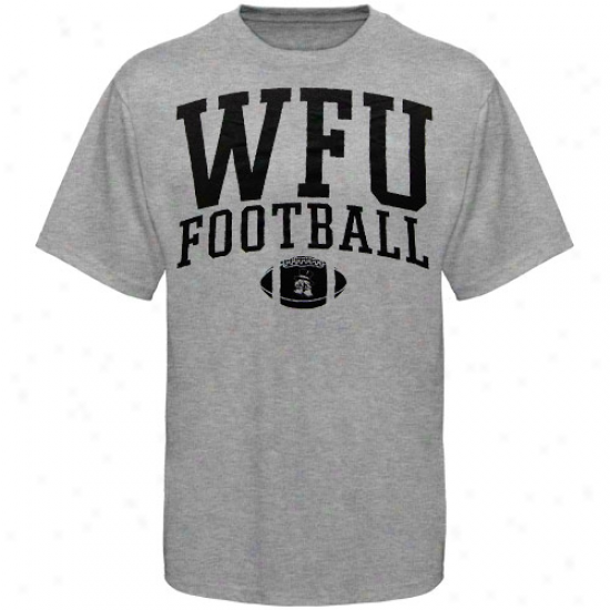 Wake Foest Demon Deacons Attire: Wake Forest Demon Deacons Ash Claszic Football T-shirt