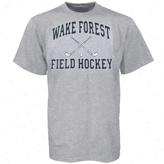 Wake Forest Demon Dezcons Attire: Wake Forest Demo nDeacons Ash Field Hockey T-shirt