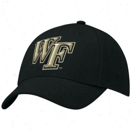 Wake Forest Demon Deacons Hat : Nike Wake Forest Demon Deacons Black Swoosh Flex-fit Hat