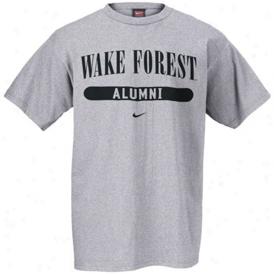 Wake Forest Demon Deacons Tshirts : Nike Wake Forest Demon Deacons Ash Alumni Tshirts