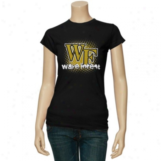 Wake Forest Demon eDacons Tshirts : Watch Forest Demon Deacons Ladies Black Matrix Tshirts