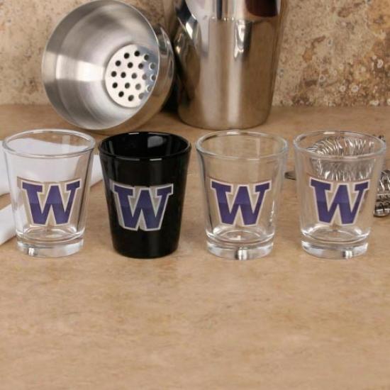 Washington Huskies 4-pack 3d Shot Glass Set