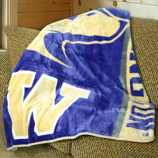 """""""washington Huskies 50""""""""x60"""""""" Stripes Series Royal Plush Blanket Throw"""""""