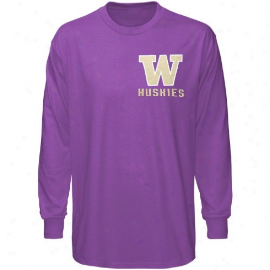 Washington Huskies Tee : Washington Huskies Purple Keen Long Sleeve Tee