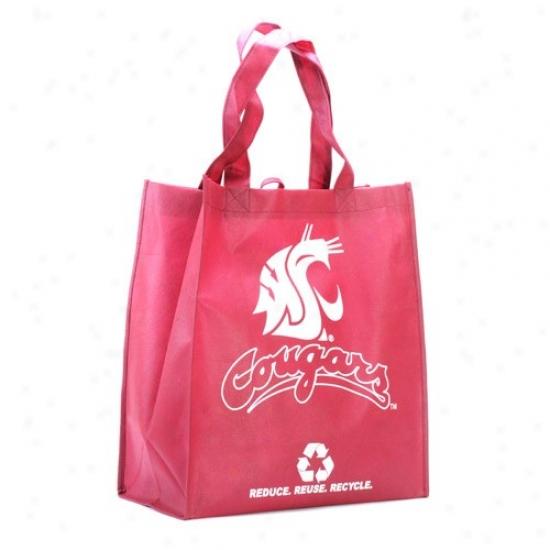 Washington State Cougars Crimson Reusable Carry Bag