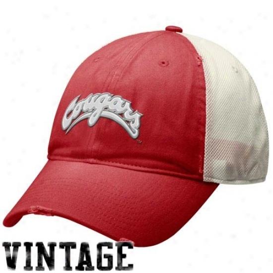 Washington State Cougars Gear: Nike Washington Stqte Cougars Crimson Heritage 86 Ensnare Swoosh Flex Hat