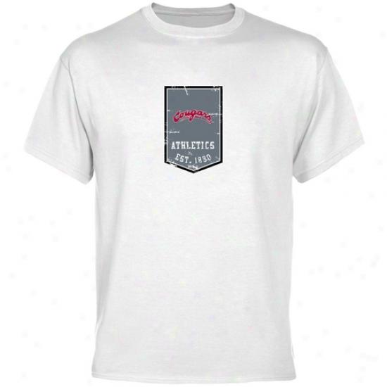 Washington State Cougars Tshirts : Washington State Cougars White Banner Tshirts