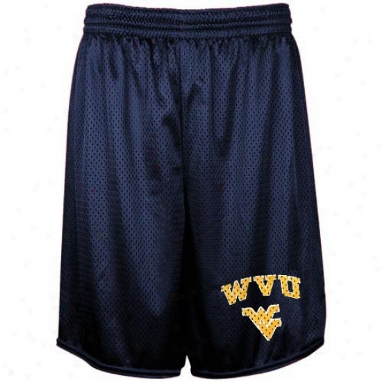 West Virginia Mountaineers Ships Blue Mezh Practice Shorts
