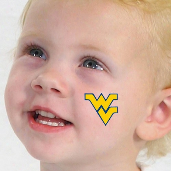 West Virginia Mountaineers Temporary Ttatoos