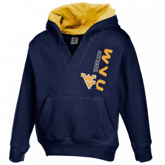 West Virginia Mountaineers Toddler Navy Blue Rush Hoody Sweatshirt