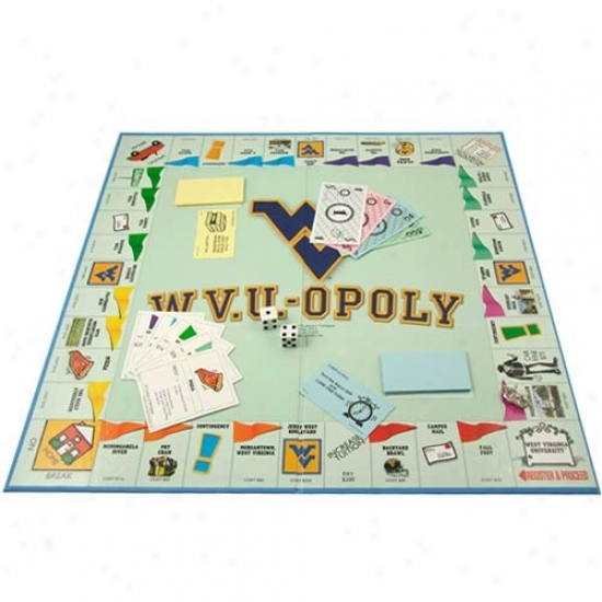 Western Virginia Mountaineers W.v.u.opoly Board Game