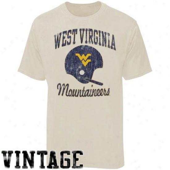 West Virginia University Tee : West Virginia University Adamant Football Super-soft Vintage Tee