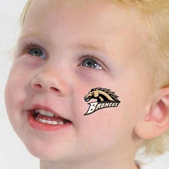 Western Michigan Broncos 4-pack Waterless Tdmporary Tattoos