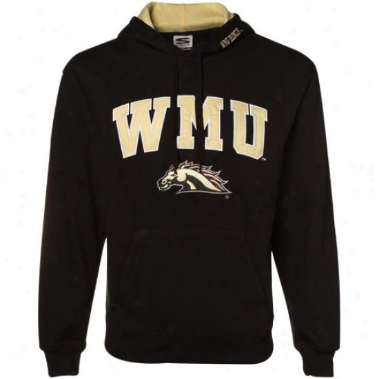 Western Michigan Broncos Black Classic Twill Hoody Sweatshirt