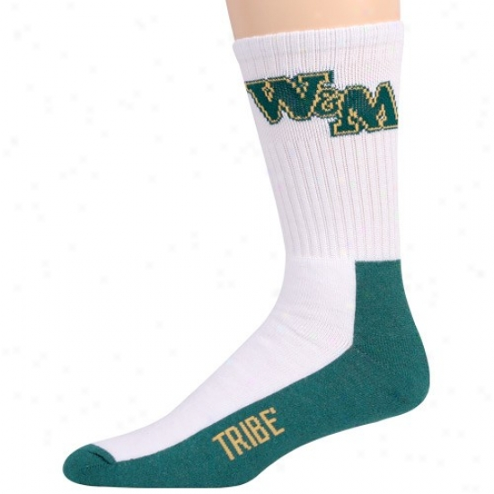 William & Mary Tribe Two-toned Team Logo Tall Socks