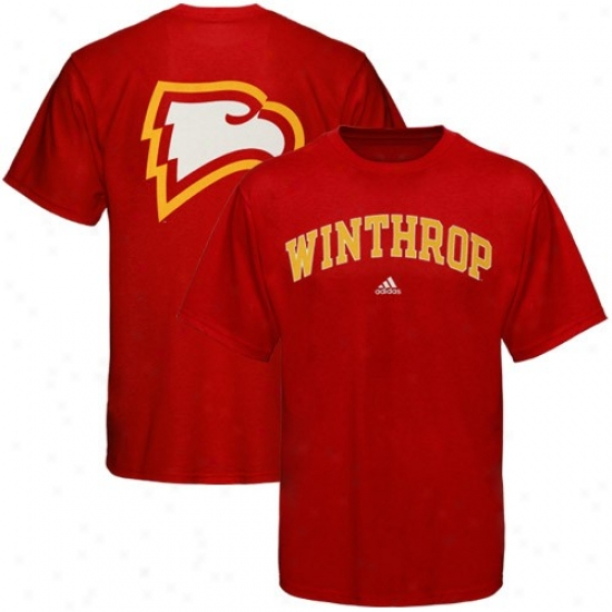 Winthrop Eagleq T-shirt  :Adidas Winthrop Eagles Red Relentless T-shirt