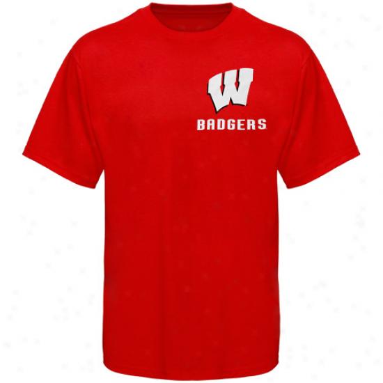 Wisconsin Badgers Apparel: Wisconsin Badgesr Cardinal Keen T-shirt
