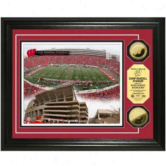 Wisconsin Badgers Camp Randall Stadium 24kt Gold Coin Photomint