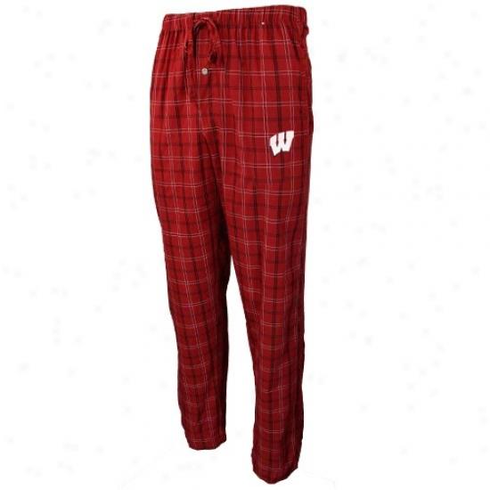 Wisconsin Badgers Cardinal Partition Pajama Pants