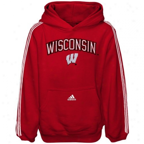 Wisconsin Badgers Sweatshirt : Adidas Wisconsin Badgefs Toddler Cardinal Game Day Sweatshirt