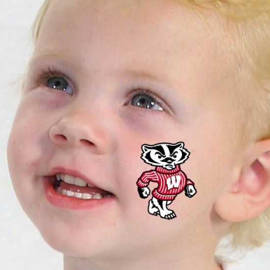 Wisconsin Badgers Temporary Tattoos