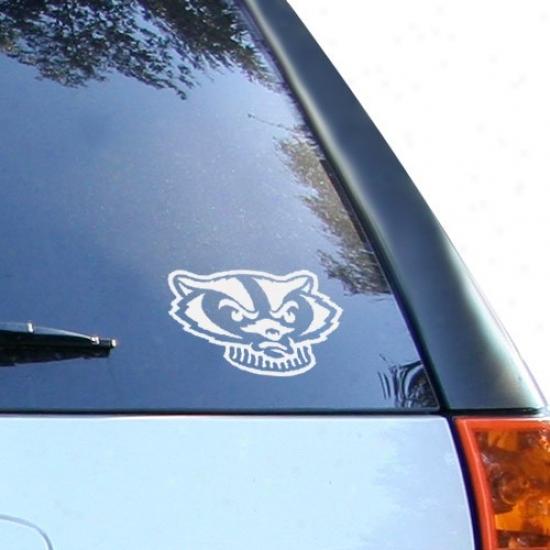 Wisconsin Badgers White Wordmark Decal