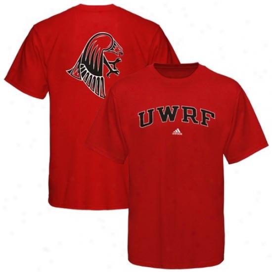 Wisconsin-river Falls Falcons Shirt : Adidas Uw-river Falls Falcons Crimson Relentless Shirt