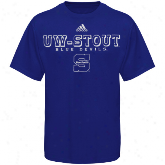 Wisconsin Stout Blue Devils Tee : Adidas Wisconsin Stout Blue Devils Royal Blue True Basic Tee