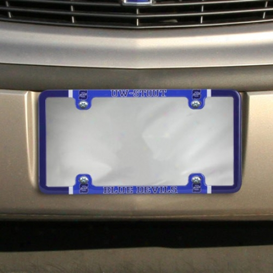 Wisconsin Strong Blue Devils Thin Rim Varsity License Plate Frame