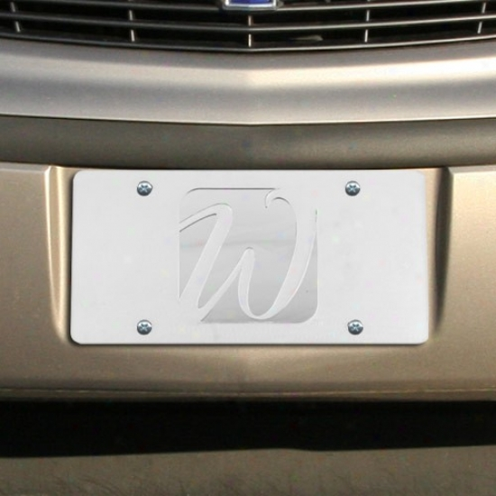 Wisconsin-whitewater Warhawks Satin License Plate