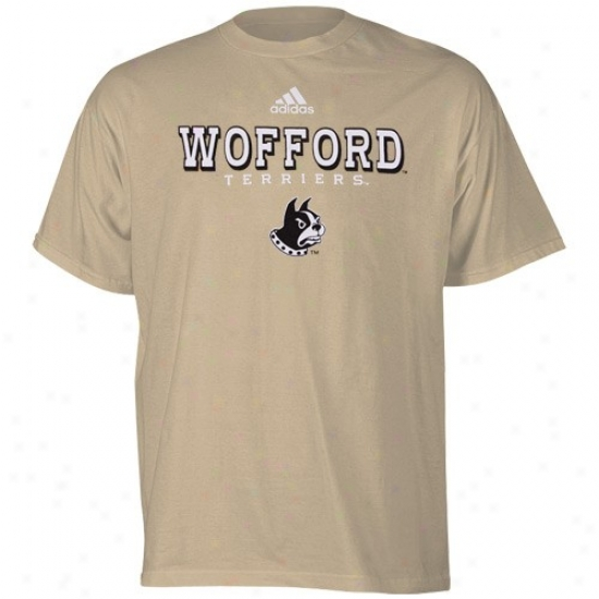Wofford Terriers Tshirts : Adidas Wofford Terriers Gold True Basic Tshirts