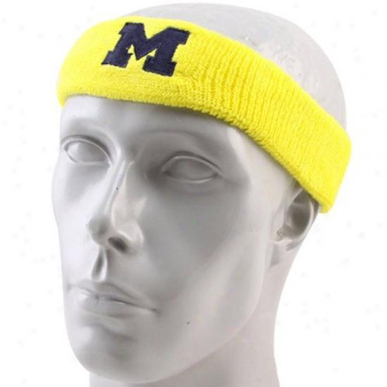 Wolverines Hat : Adidas Wolverines Maize Basic Logo Headband