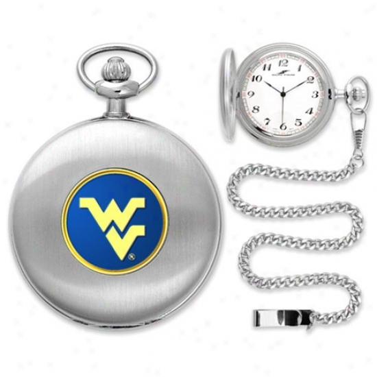 Wvu Mounntaineer Watches : Wvu Mountaineer Silver Pocket Watches