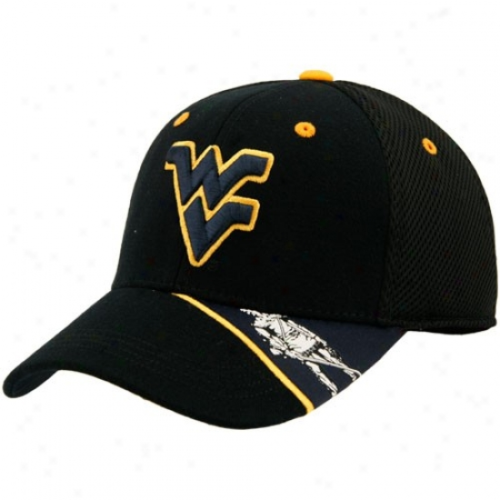Wvu Mountaineers Merchandise: Top Of The Public Wvu Mountaineers Black Sppasher Hat