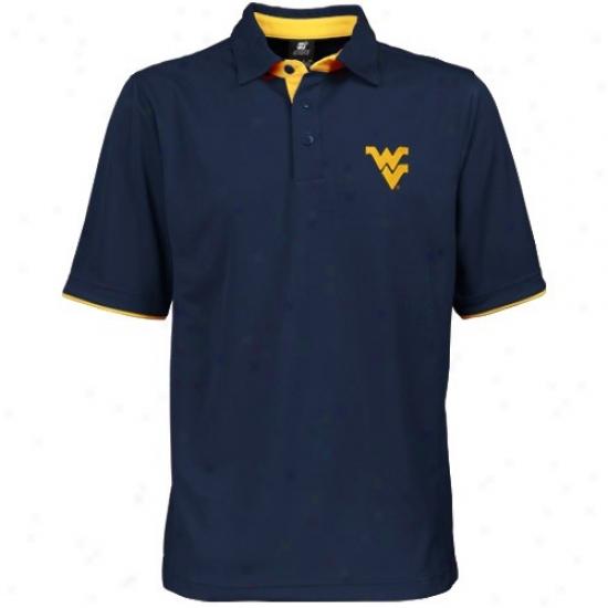 Wvu Mountaineers Polo : Wvu Mountaineers Navy Blue Classic Polo