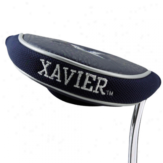 Xavier Musketeers Navy Blue Mallet Putter Cover