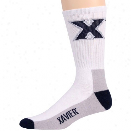 Xavier Musketeers Youth Tri-color Team Logo Tall Socks