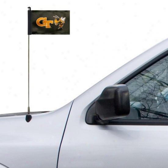 Yeloe Jackets Banner : Georgia Tech Yellow Jackets Black Car Antenna Banner