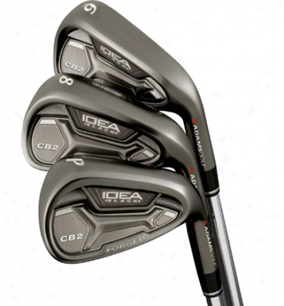 Adams Pro Black Cb2 Iron Set 4-gw With Graphite Shafts
