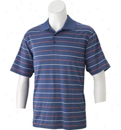 Adidas Men S Climacool Mesh Jacquard Stripe Polo