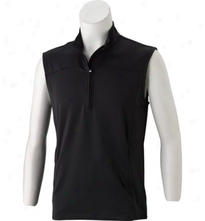 Adidas Men S Climalite Warm Half Zip Vest